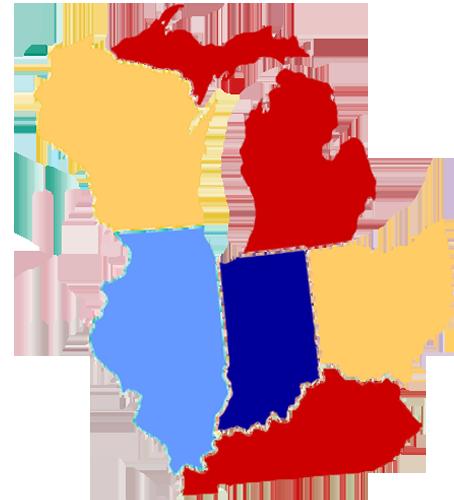 DMA service map cropped - Distribution Management ociates, Inc. on